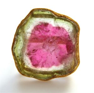 Watermelon Tourmaline Ring. c1970-2